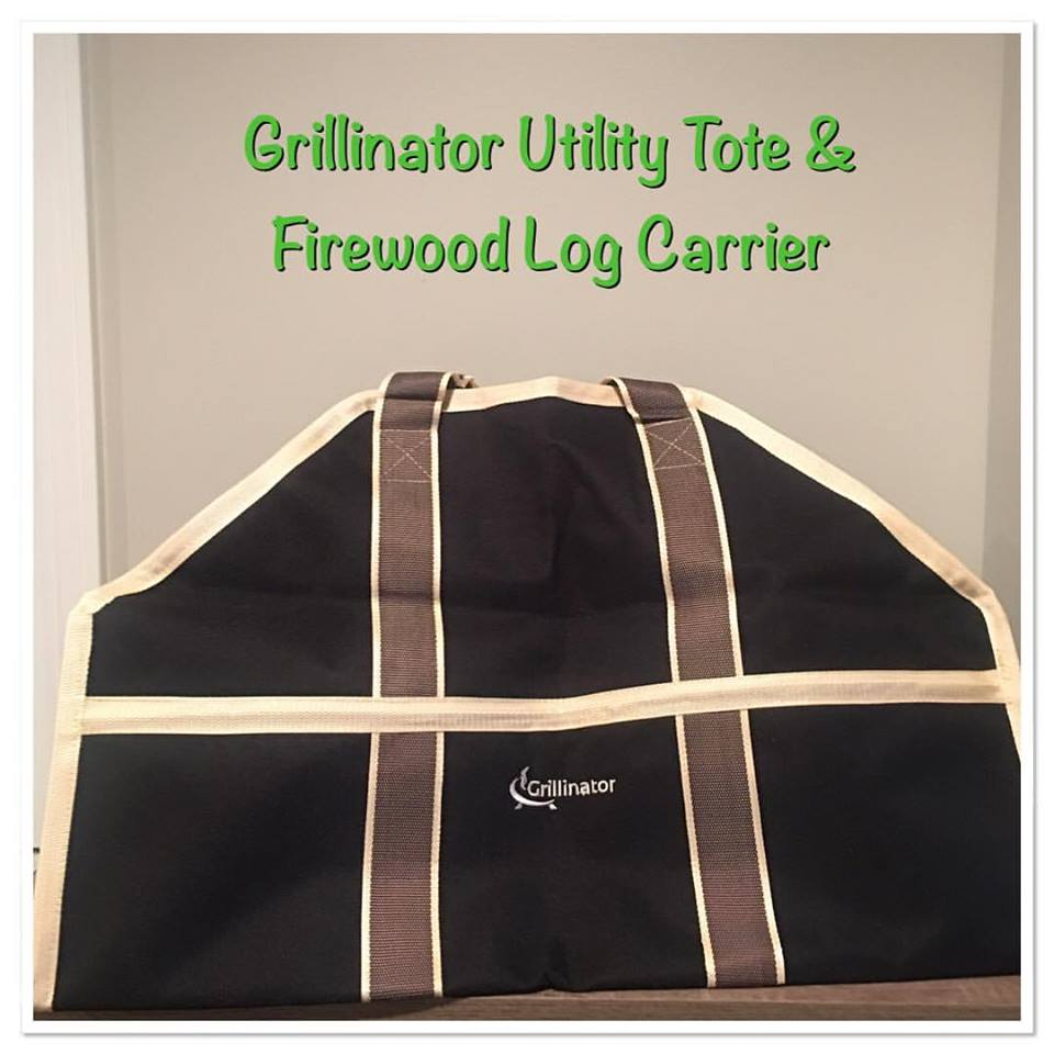 Grillinator Utility Tote and Firewood Log Carrier