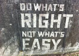 do what's right