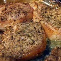 Garlic Parmesan Roasted Pork Chops
