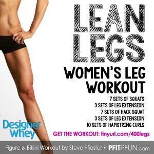 DW lean leg workout