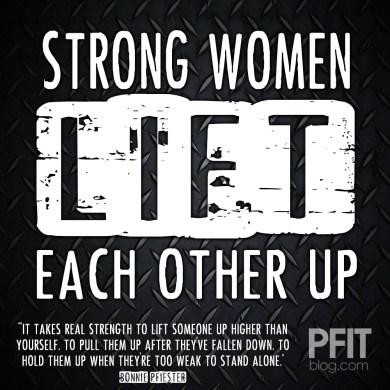 strong women lift