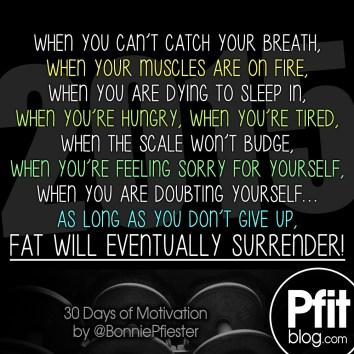 fat will surrender