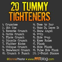 20 Tummy Tighteners