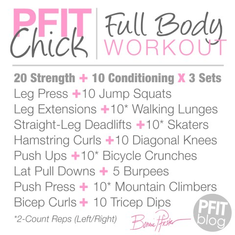 Pfit Chick Full Body Workout