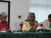 Asha Hagi Elmi, Member of Parliament from Somalia, emphasizes the important role of women in peace-building initiatives, at Inter-Faith Action for Peace in Africa commission. 2006.