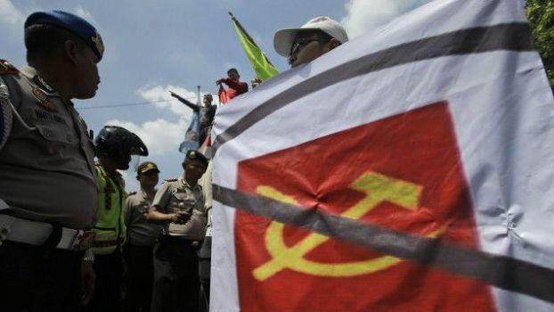 Demo anti komunis beberapa waktu lalu.