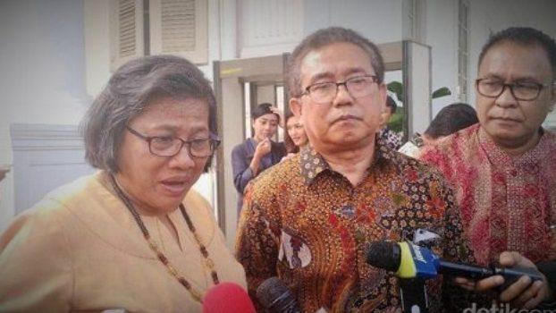 MPH-PGI saat diwawancarai wartawan usai bertemu Presiden Jokowi