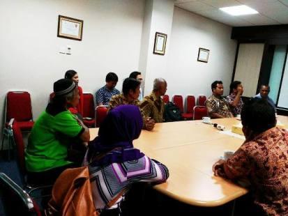 Usai bertemu dengan Komnas HAM, Perwakilan STKGB berkunjung ke Grha Oikoumene PGI untuk berdialog dengan MPH-PGI