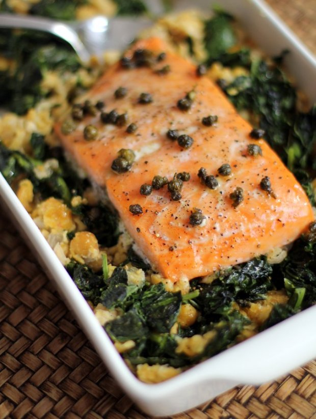 Slow-Cooked-Salmon-with-Chickpeas-and-Greens-1