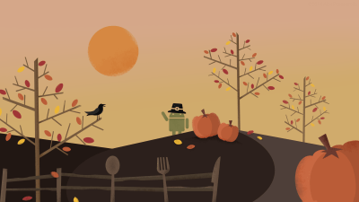 Android Wallpaper: Roboto Thanksgiving
