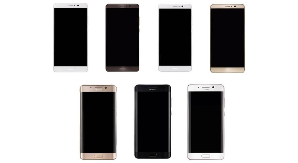Alcuni render di Huawei Mate 9 mostrano anche una versione curva