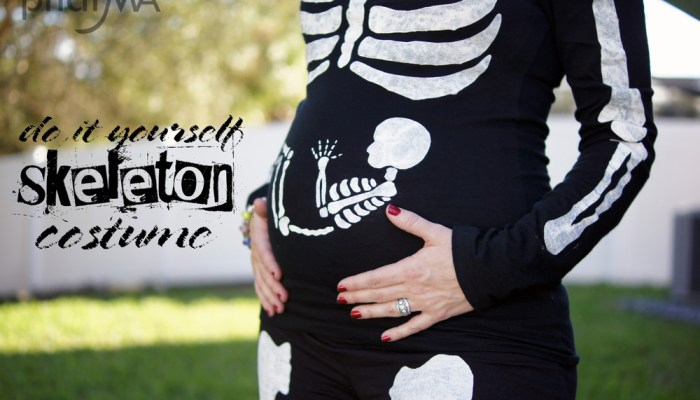 Pregnant Skeleton Costume