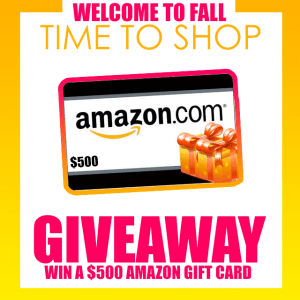 $500 Amazon Gift Card GIVEAWAY!