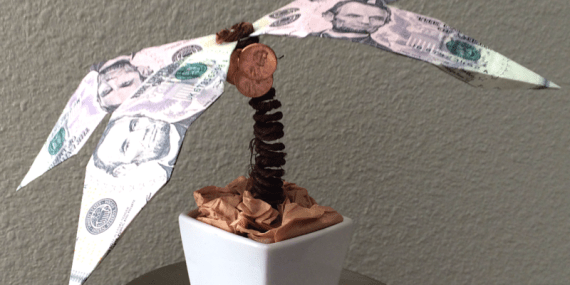 Origami Money Palm Tree