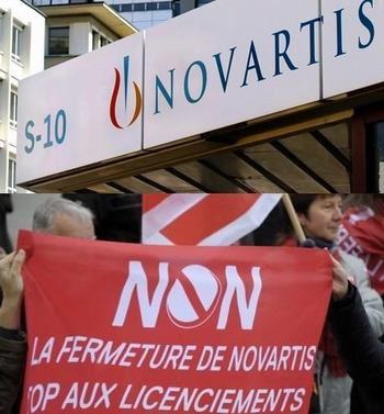 Licenciement Novartis