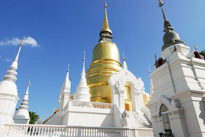 ワット・スアン・ドーク Wat Suan Dok (Wat Bubharam) 白い薔薇