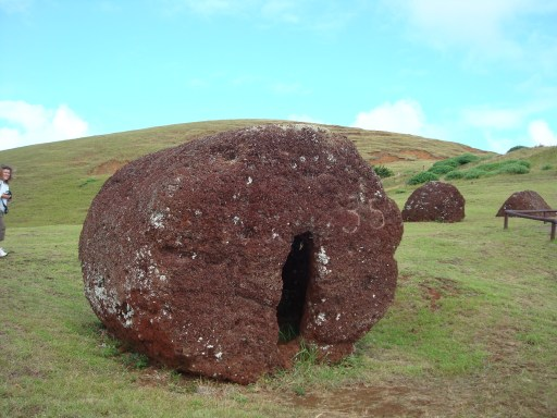 A tumbled Top Knot from the Moai of Easter Island