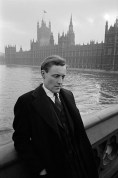 Anthony Wedgewood  Benn outside Parliament. 1962.