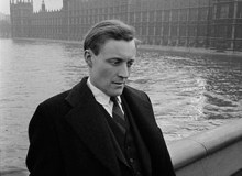 Anthony Wedgewood  Benn outside Parliament. 1962.