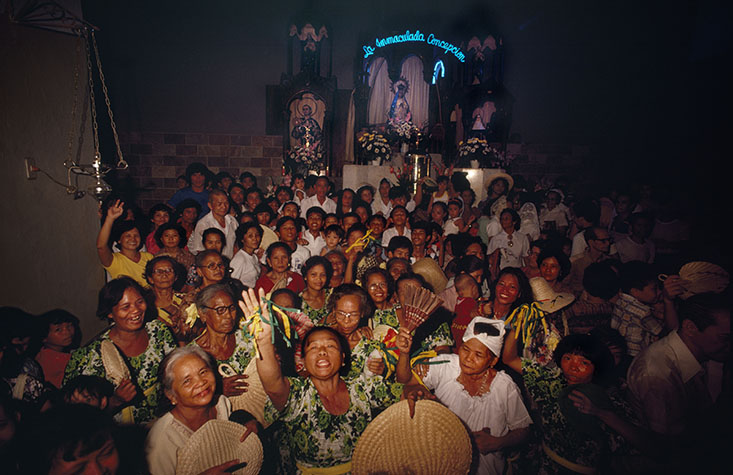 PHILIPPINES. Religion in the Philippines, A church in Manila. 1981.