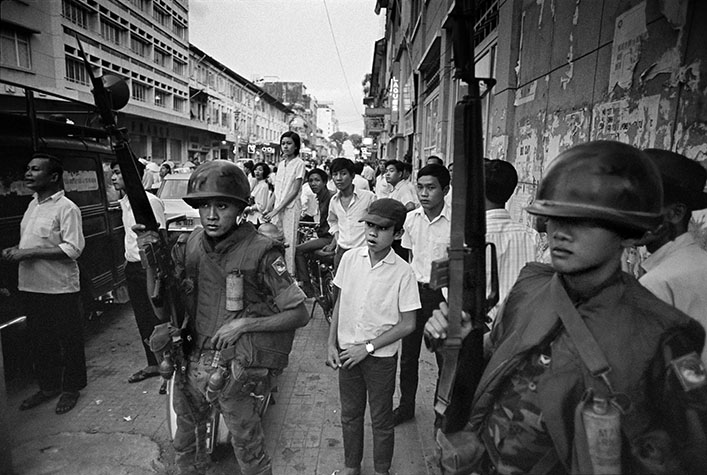 VIETNAM. Downtown Saigon. Soldiers used for crowd control. 1970