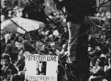 U.S.A.  New York City.  Central Park.  1980.  John Lennon memorial service.