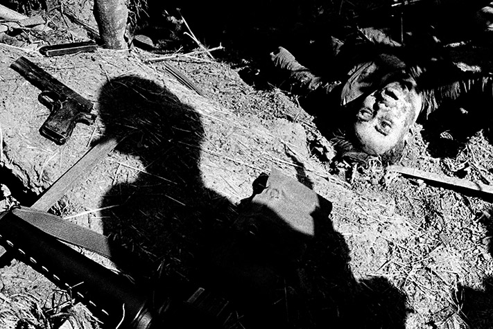 VIETNAM. Quang Ngai. This guerrilla fighter had just thrown a grenade, killing one member of the platoon and wounded two others.  In the resulting fracas, he too was killed. The incident occurred in what had once been a quiet hamlet in central Vietnam, probably in the very field in front of his home where he'd spent his youth tilling the soil. 1967
