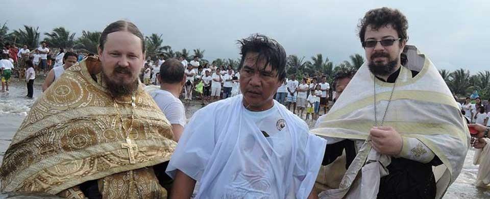 Baptisms and Divine Liturgy at Ladol