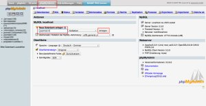 mysql-Datenbank mit phpMyAdmin