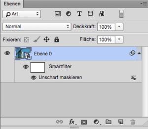 Ergebnis: Smartfilter-Ebene mit unscharf maskieren Filter