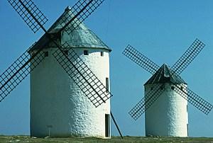 Flügel der Windmühle leuchten