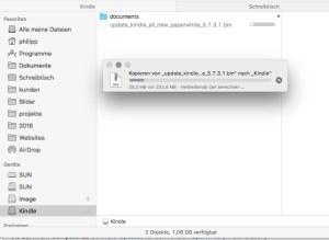 Kindle-Update über USB einspielen