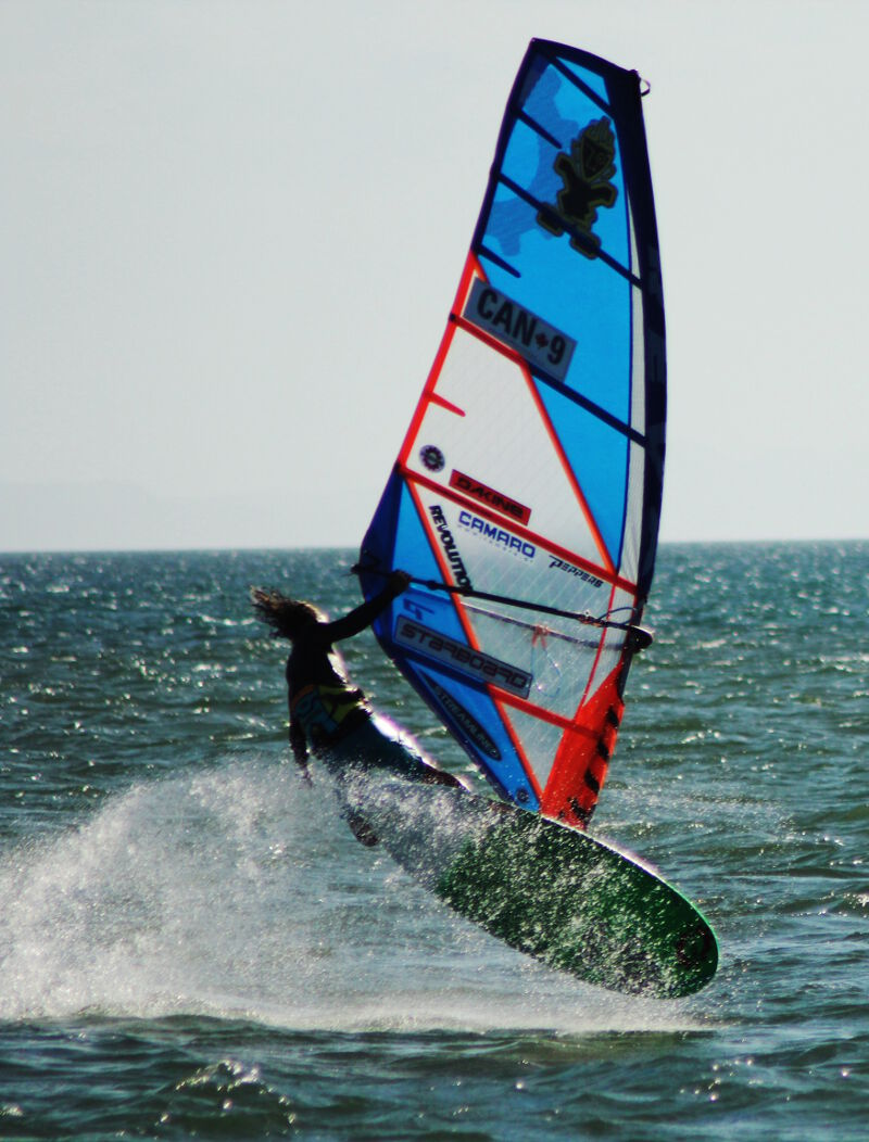 Phil Soltysiak CAN 9 Windsurfing in El Yaque Beach. Photo by Lisa Pina.