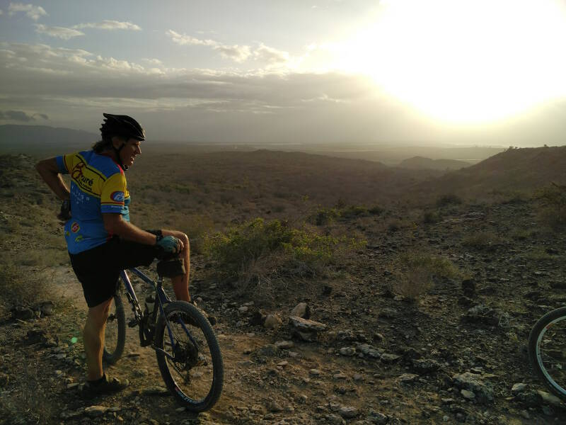 There are some amazing views of Isla Margarita on the morning bike rides.