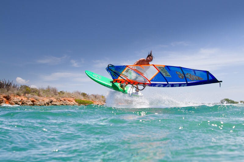 Phil Soltysiak CAN 9 windsurfing on Isla Margarita, Venezuela. Photo by Tom Brendt.