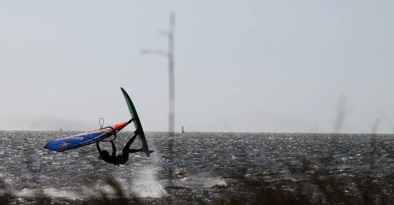 Pamlico Sound windsurfing. Photo by Makani Fins.