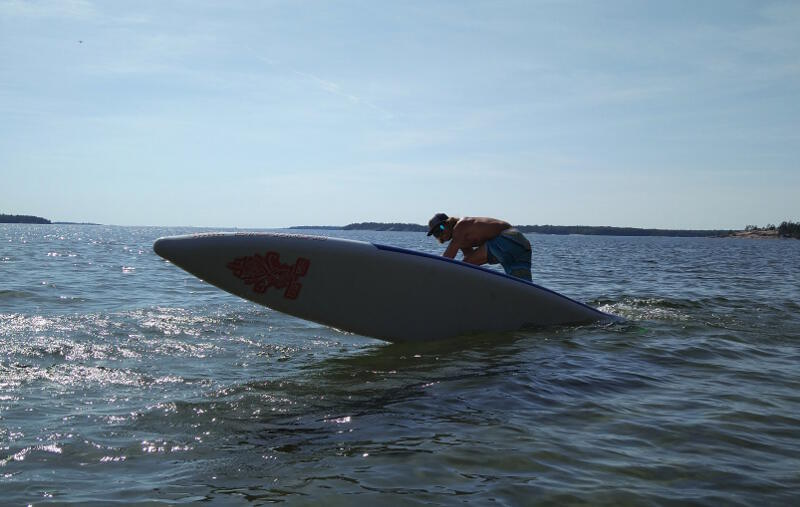 My stand up paddling skills