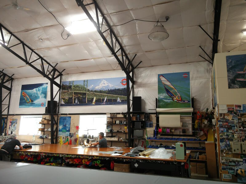 The Sailworks sail loft in Hood River