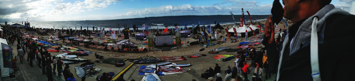 Sylt event site Panorama with flat screen tv displays.