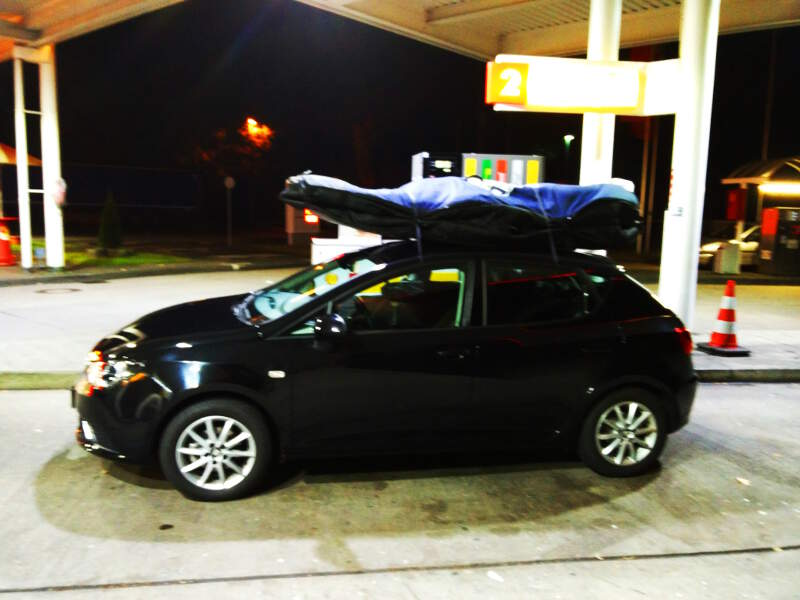 2am drive with the gear from Belgium to Dusseldorf Airport