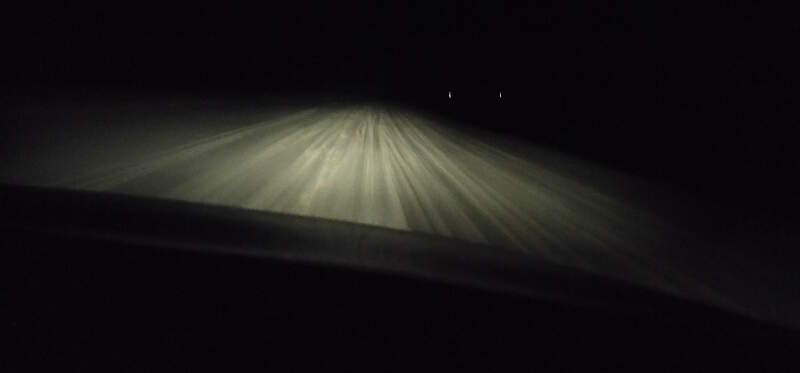Driving down the beach towards Jericoacoara at night