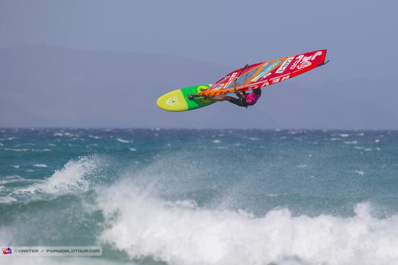 Phil Soltysiak looping on the way out. Photo by PWA/Carter.