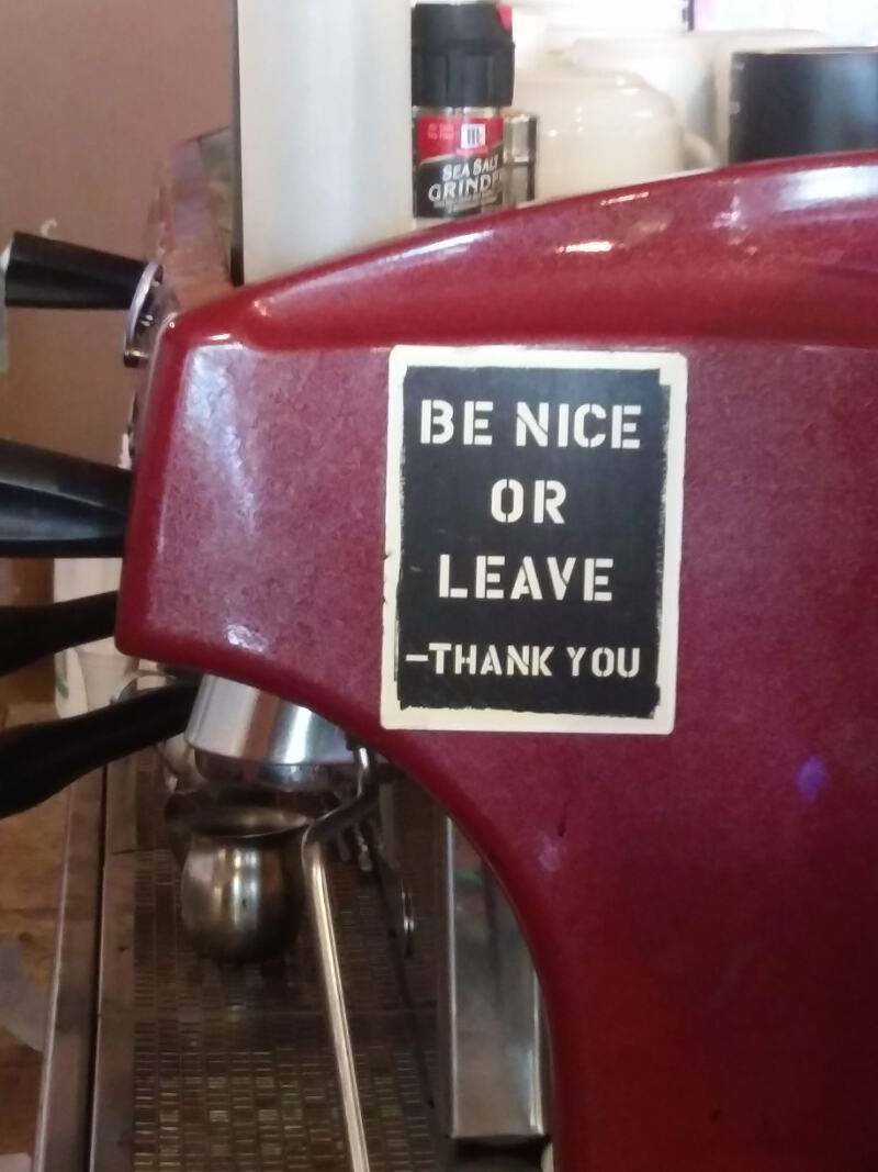 Be nice or leave - thank you!