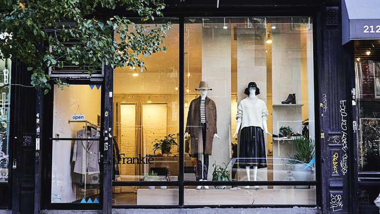 The storefront of Frankie in New York, NY. (courtesy of time.com)