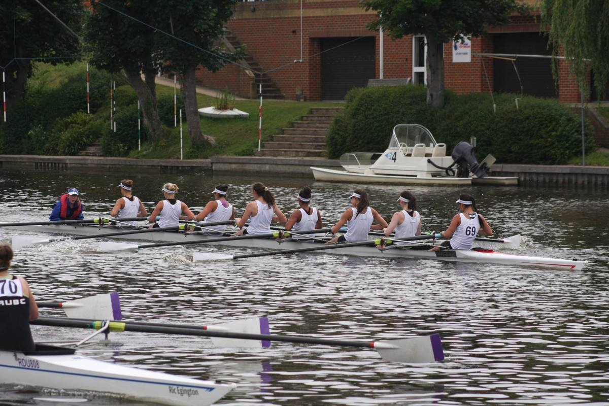 Andover's eight boat fell to the Headington School in the semifinals of the Henley Women's Regatta. (Courtesy of Evelyn Mesler)