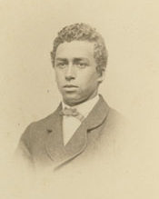 Richard T. Greener, pictured in his senior portrait from 1865.