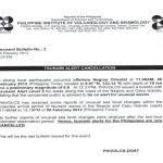 Phivolcs Bulletin Issued Tsunami Warning Alert Cancelled