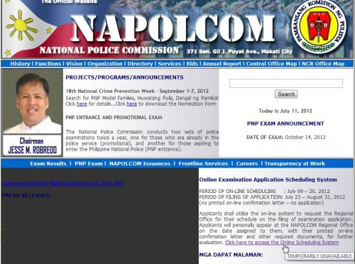 NAPOLCOM Online Application