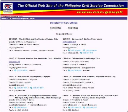 Civil Service Exam Passers