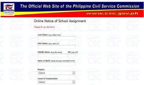 civil service room assignment
